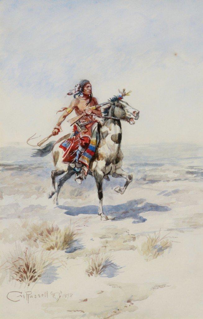 152: Indian Rider on Horseback, 1898