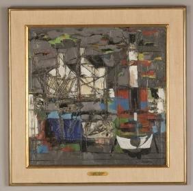 "Claude Venard (French, 1913-1999) ""The Harbor"""