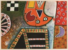 "Alan Davie (English, 1920-2014)  ""Cat's Claw"""