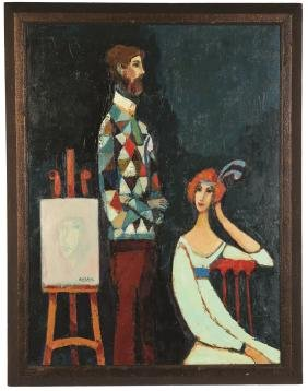 "David Pryor Adickes (Born 1927) ""The Art Lesson"""