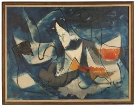 """John von Wicht (American/German, 1888–1970) """"Blue"""