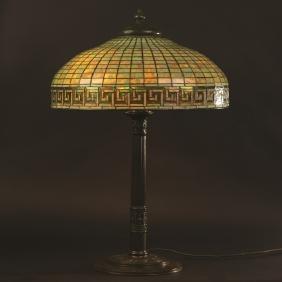 Tiffany Studios Greek Key Lamp
