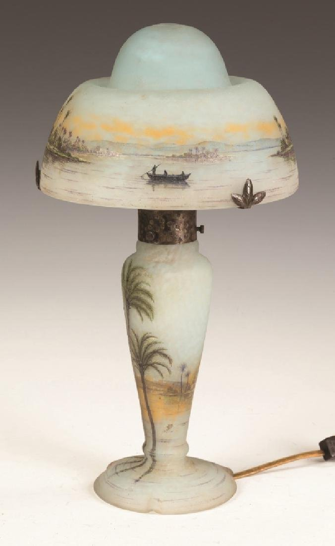 Fine Daum Nancy Lamp with Middle Eastern Seascape - 2