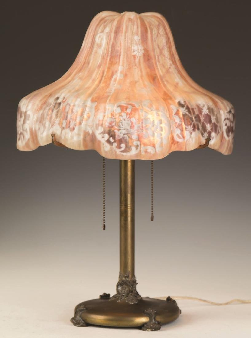 Pairpoint Puffy Table Lamp, Floral Design