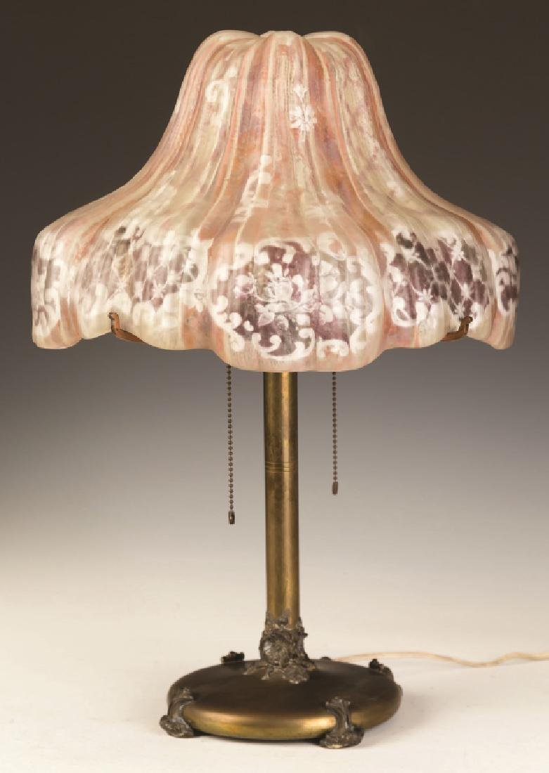 Pairpoint Puffy Table Lamp, Floral Design - 2