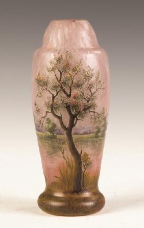 Fine Daum Nancy Five Color Cameo Vase