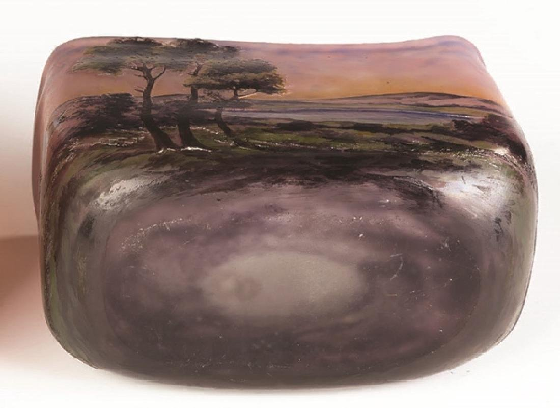 Muller Freres Cameo Vase of a Lake Scene - 3