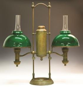 Tiffany Double Post Student Lamp
