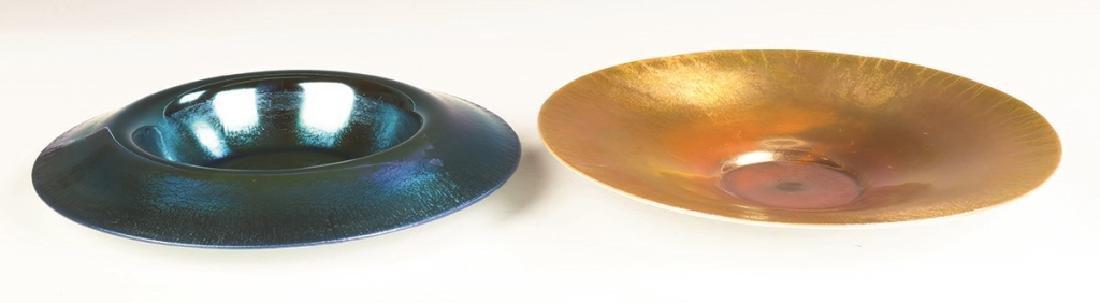 Two Steuben Aurene Bowls