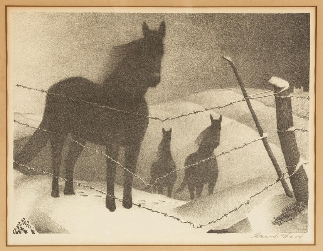 "Grant Wood (American, 1891-1942) ""February"""