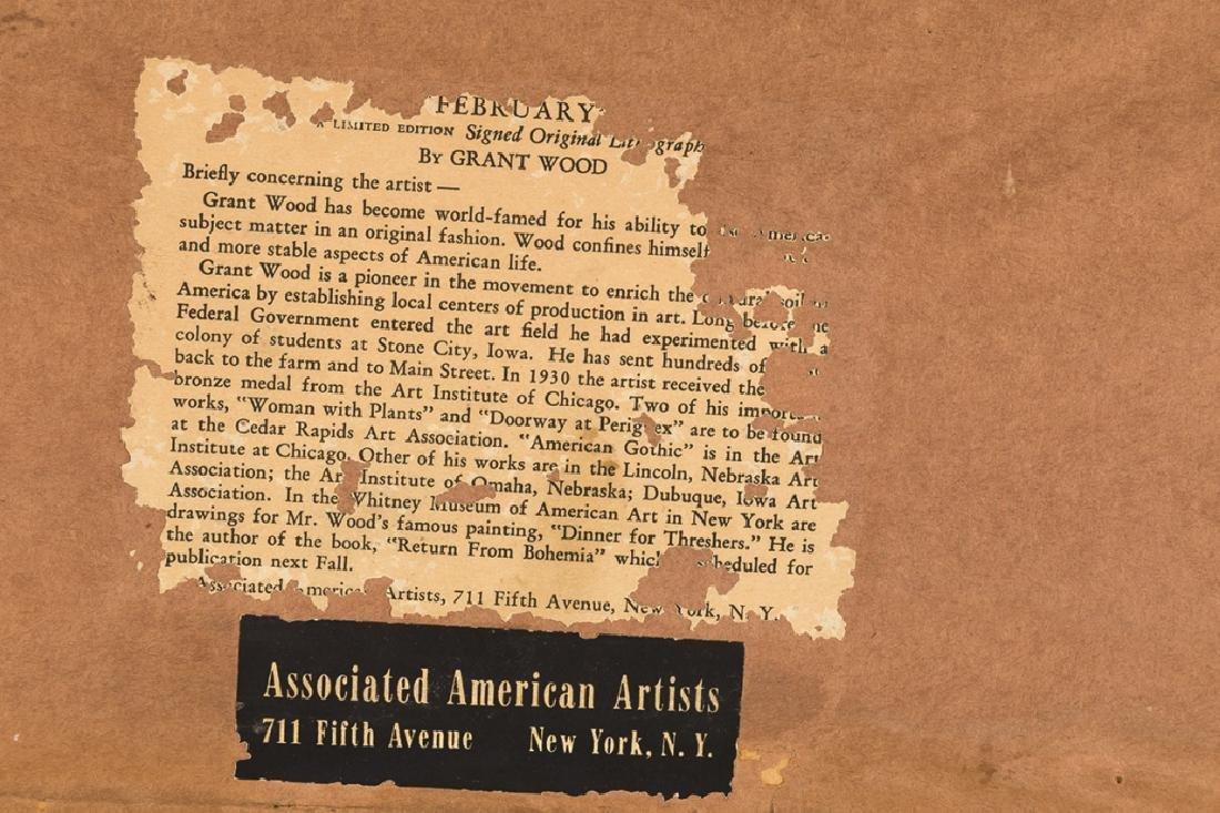 "Grant Wood (American, 1891-1942) ""February"" - 5"