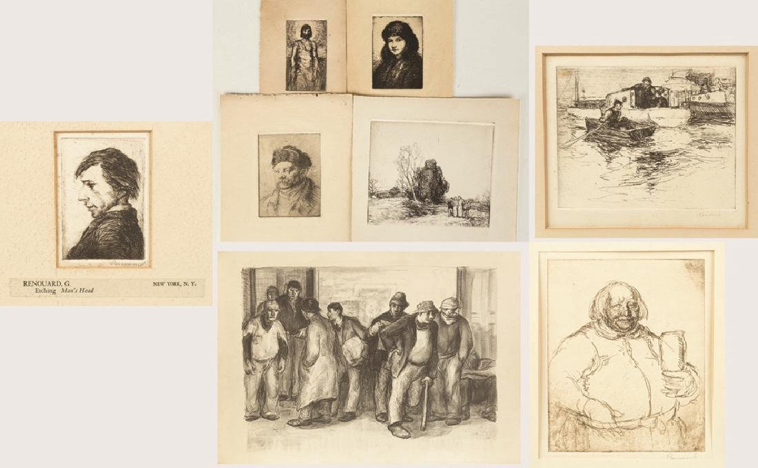 Group of George Renouard (American, 1884-1954) Etchings