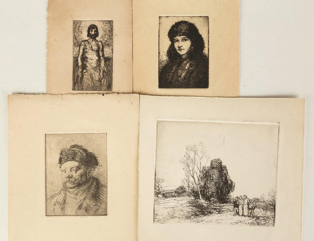 Group of George Renouard (American, 1884-1954) Etchings - 3