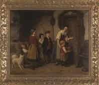 Otto Rethel (German, 1822-1892) Delivering a Christmas