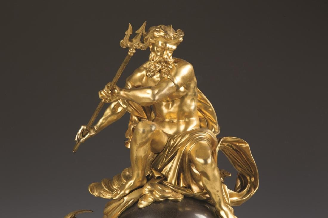 French Gilt and Patinaed Bronze Clock - 3