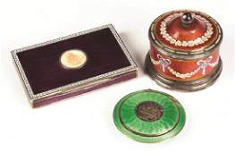 French and Austrian Enameled Pieces