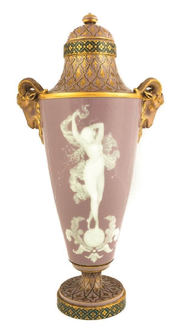 Sevres Pate-sur-Pate Vase with a Nude