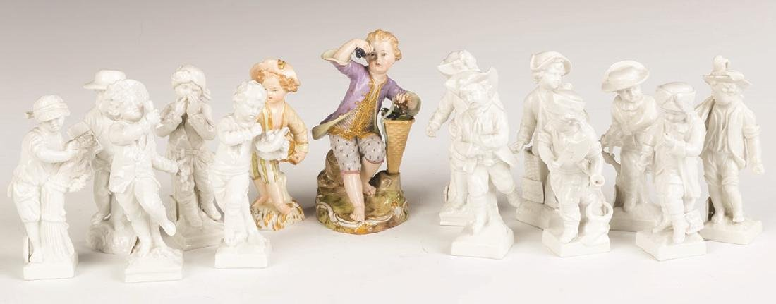 Group of KPM and Meissen Figurines