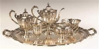 Six Piece Gorham Sterling Silver Tea Set