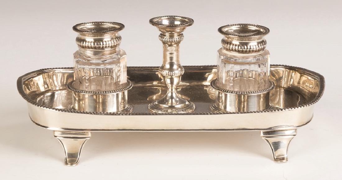 Thomas Lamborn, English Sterling Silver Ink Stand