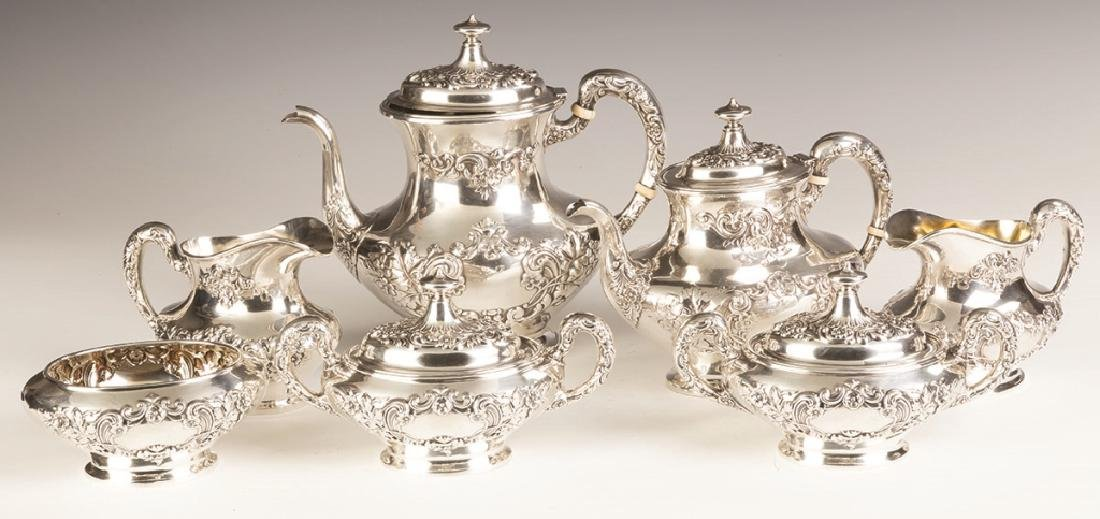 Gorham Sterling Silver Seven Piece Tea Set