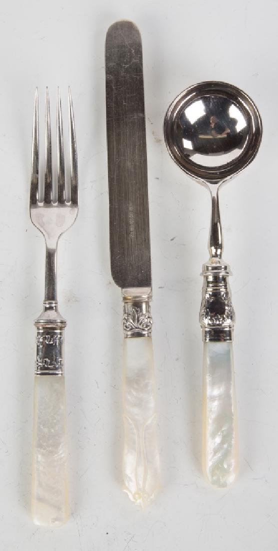 Silver Plate and Mother of Pearl Flatware