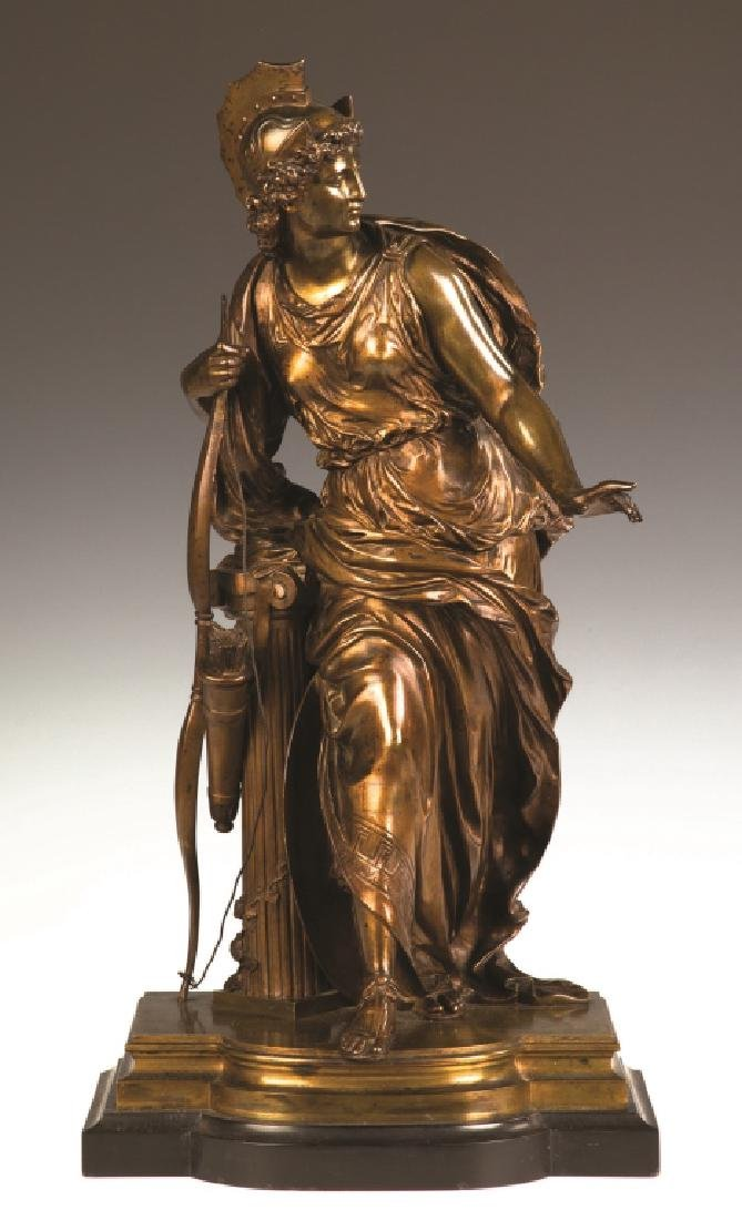 """Mathurin Moreau (French, 1822-1912) """"Antiope"""" Bronze"""