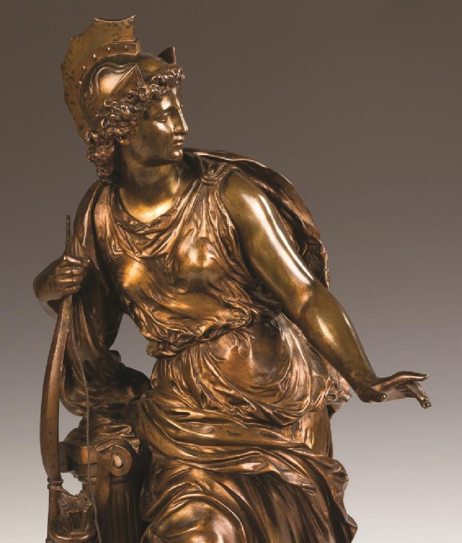 """Mathurin Moreau (French, 1822-1912) """"Antiope"""" Bronze - 2"""