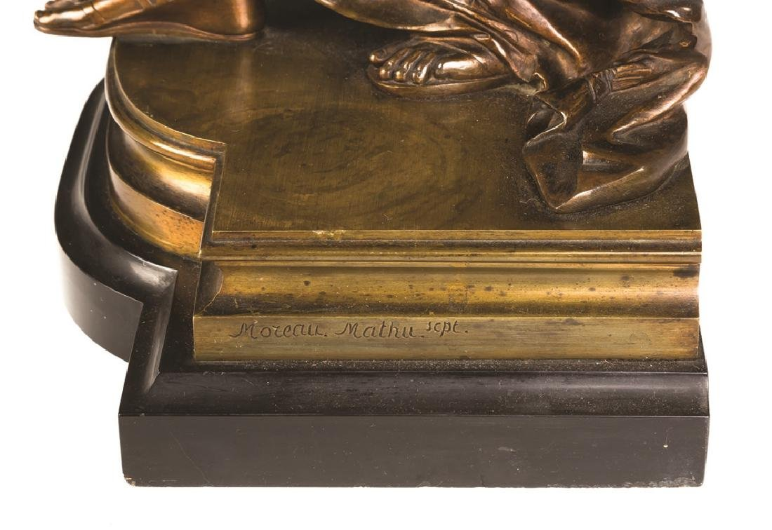 """Mathurin Moreau (French, 1822-1912) """"Antiope"""" Bronze - 3"""