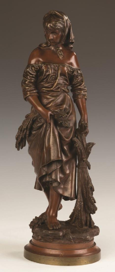 Eutrope Bouret (French, 1833-1906) Bronze of a Lady