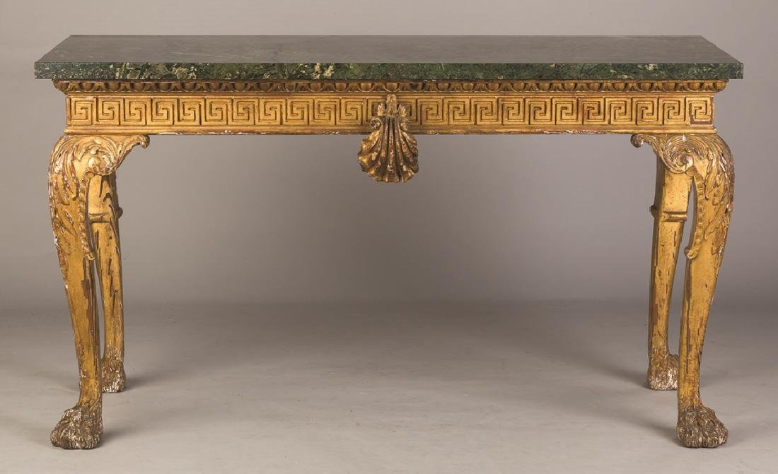 Continental Carved and Gilt Wood Side Table