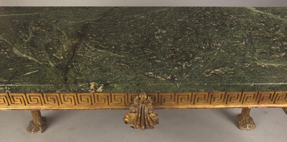 Continental Carved and Gilt Wood Side Table - 2