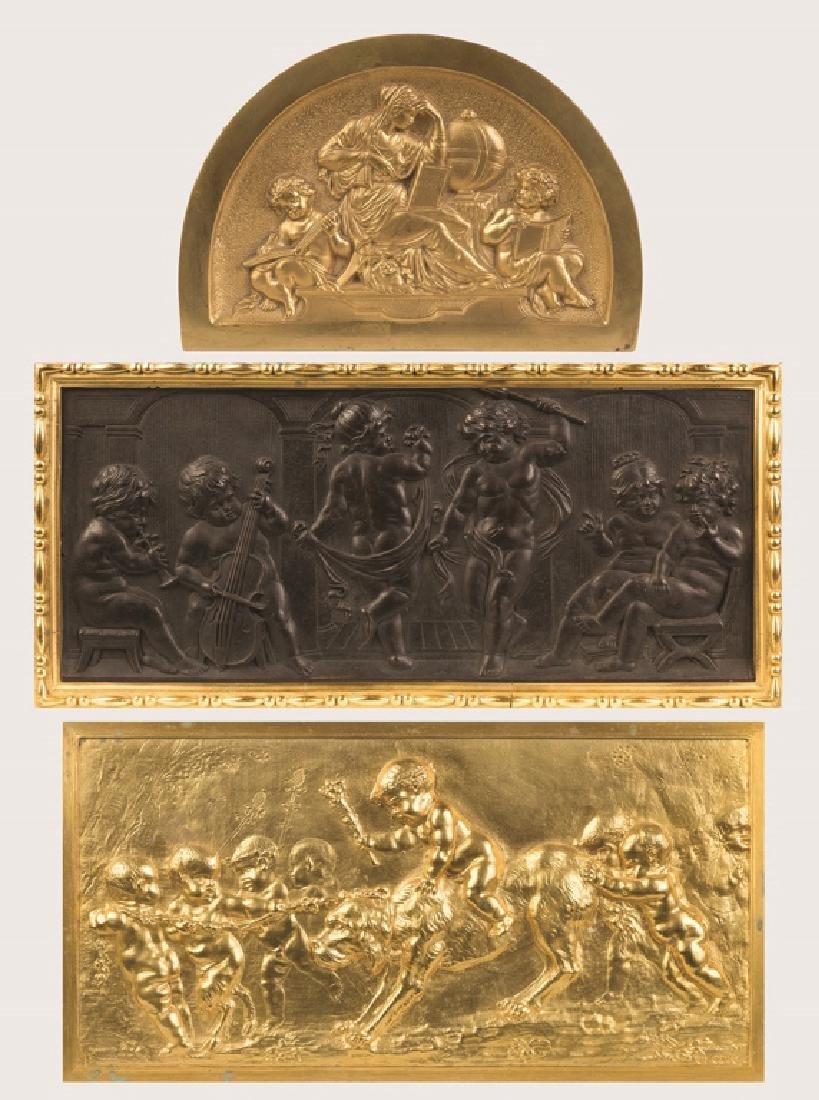 Three Cast Bronze Plaques