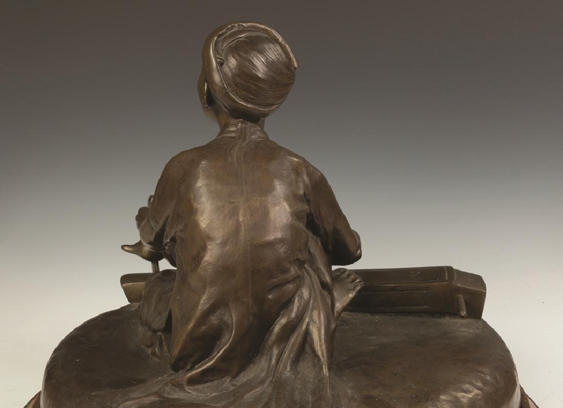 Hoang-Xuan Lan, Bronze of a Young Asian Boy  Playing - 2
