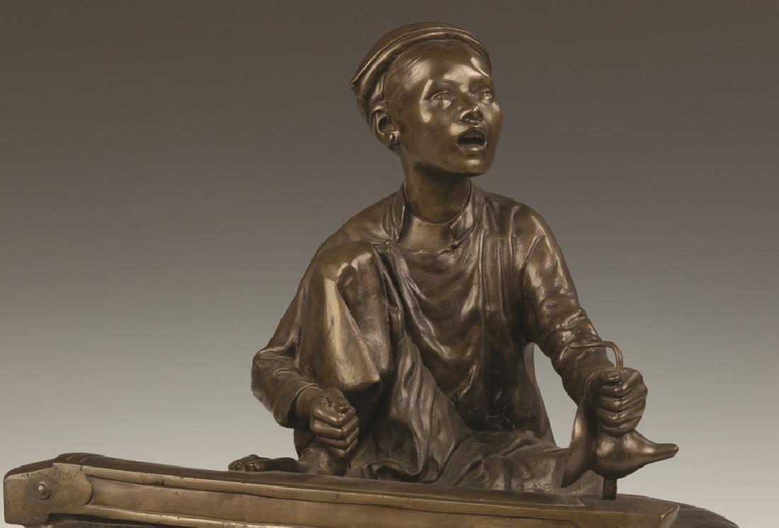 Hoang-Xuan Lan, Bronze of a Young Asian Boy  Playing - 3