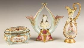 Three Pieces of Hand Painted Porcelain