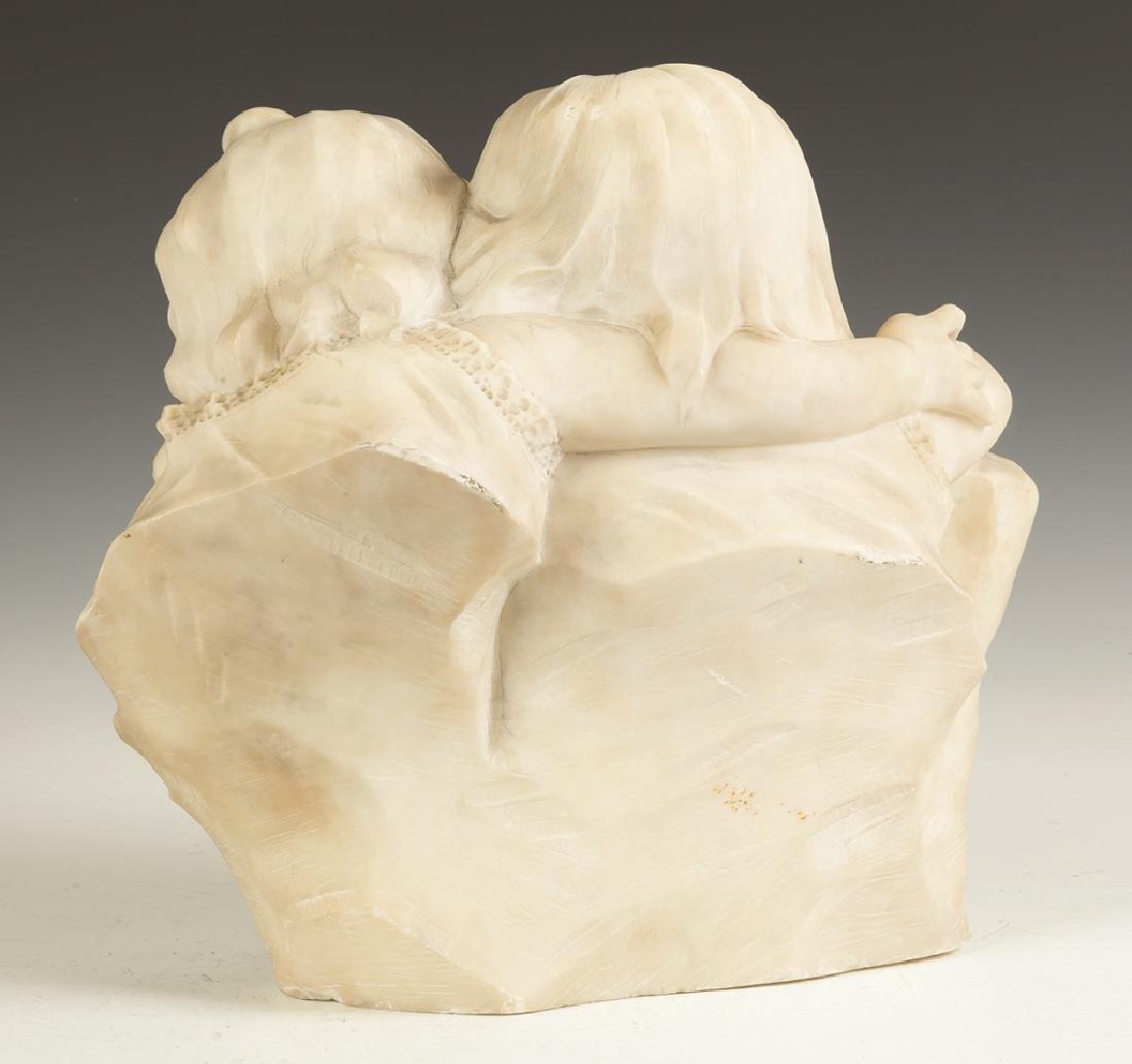 """Marble Sculpture of Children """"L'addio""""/""""Goodbye"""" - 2"""