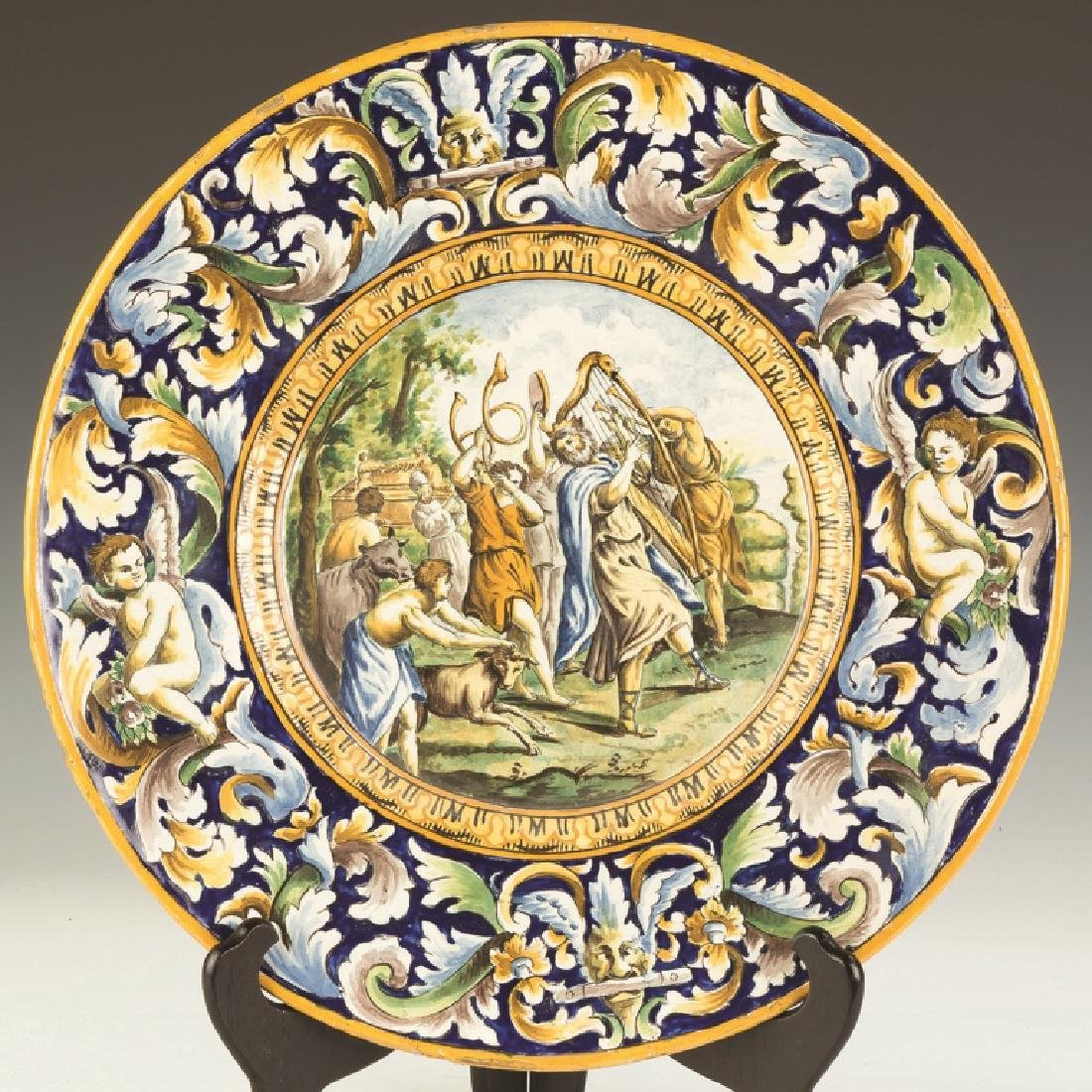 Majolica Charger with a Festival Scene