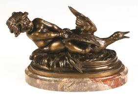Auguste Moreau (French, 1826-1897) Bronze of a Putti