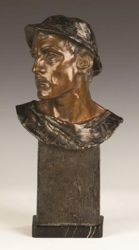 Adolf Josef Pohl  (Austrian, 1872-1930) Bronze  Bust of
