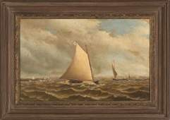 Archibald Cary Smith American 18371911 Harbor Scene