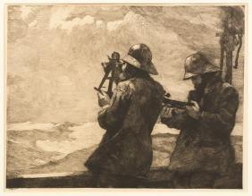 """Winslow Homer (American, 1836-1910) """"Eight Bells"""""""