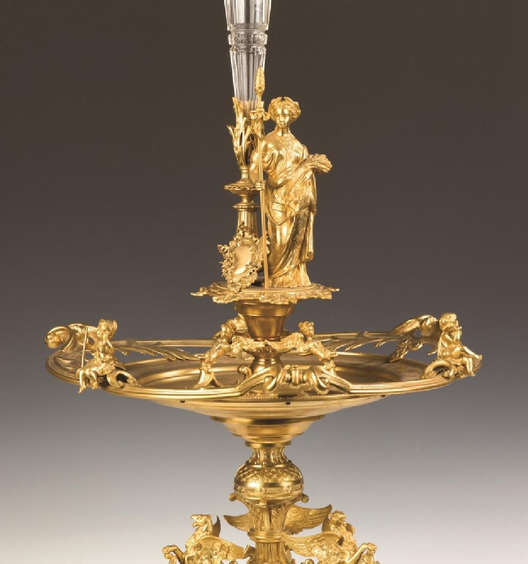 French Gilt Bronze and Cut Glass Centerpiece - 2