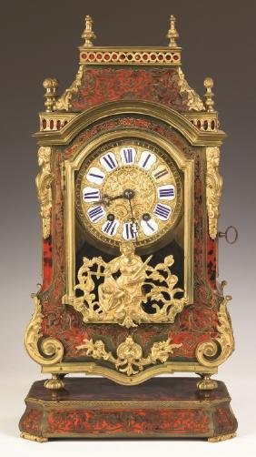French Boulle and Gilt Bronze Mantel Clock
