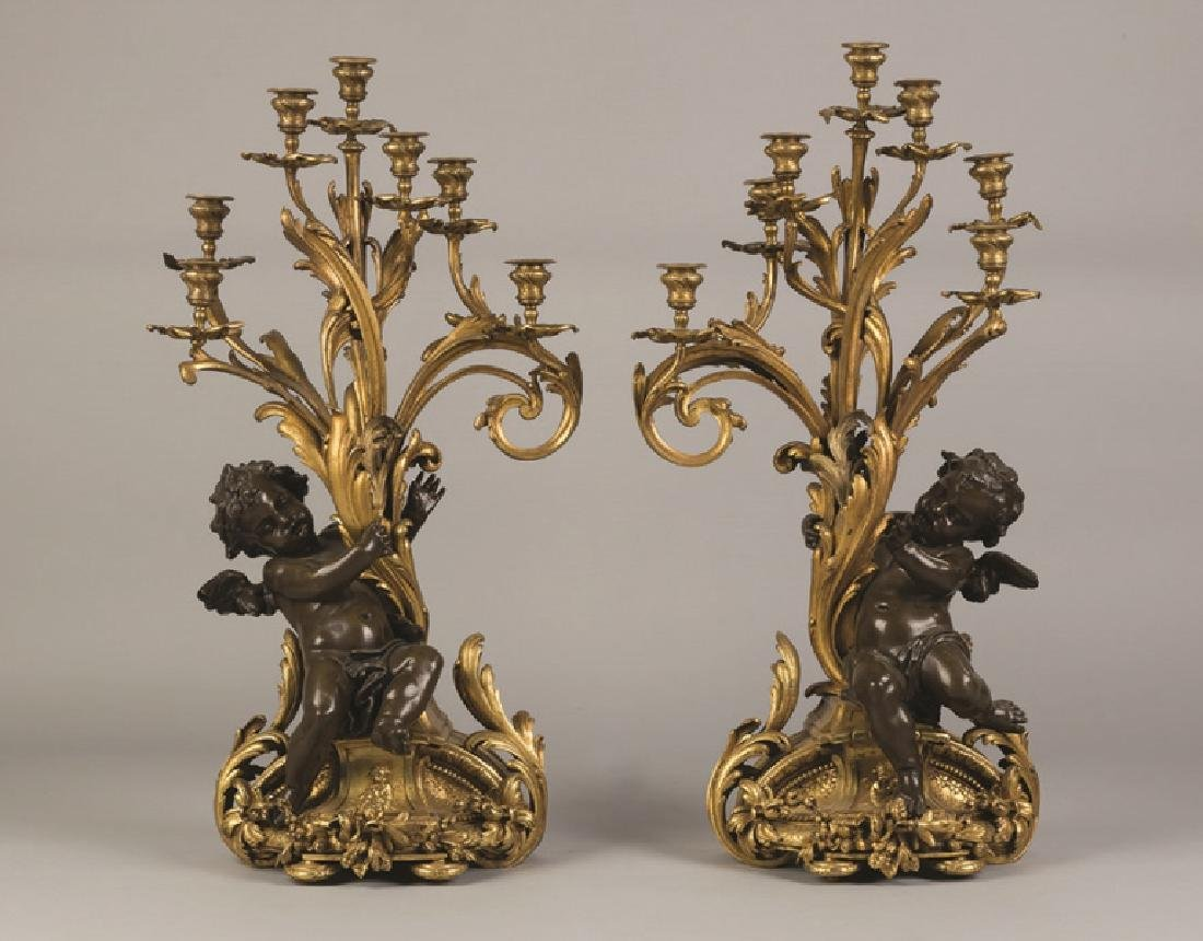 Fine Monumental French Gilt Bronze and Bronze