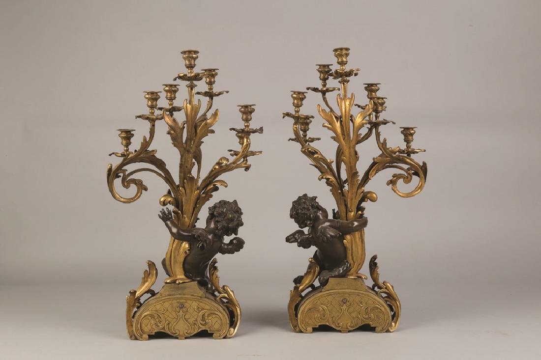 Fine Monumental French Gilt Bronze and Bronze - 2