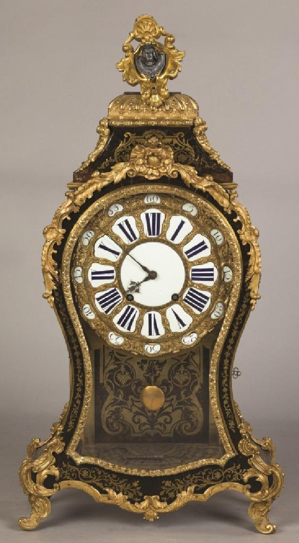 Gilt Bronze and Boule Mantel Clock