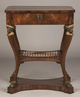 Classical Circassian Walnut Sewing Stand