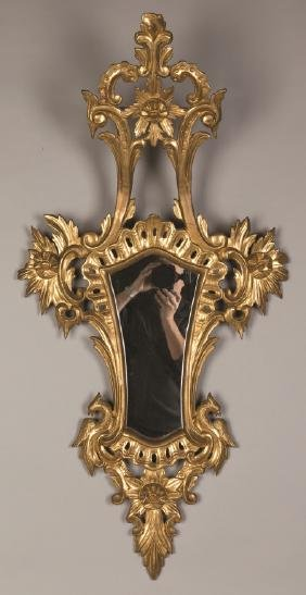 Carved and Gilt Wood Mirror