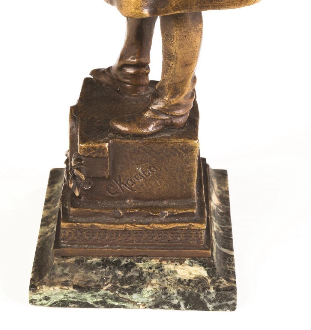 Carl Kauba (Austrian, 1865-1922) Bronze of a Figure - 3